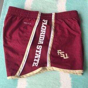 Nike FSU athletic running shorts. Size XS.